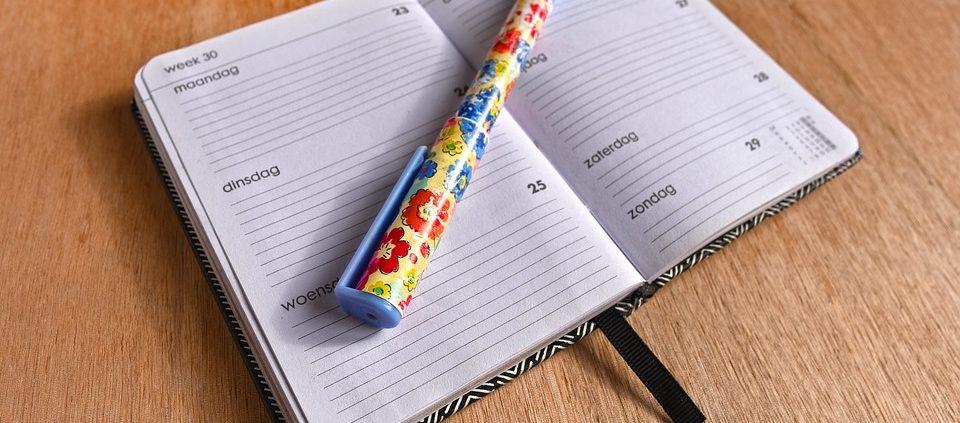 dagindeling maken met een agenda
